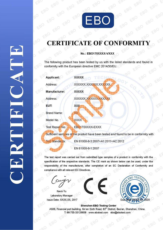 第三方CE认证机构证书